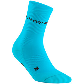 cep Neon Mid-Cut Socks Women, neon blue